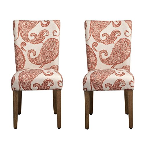 Kinfine Henna Paisley Parsons Upholstered Accent Dining Chairs, Set of 2 (Dining Chair Sydney)