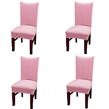 Awe Inspiring Amazon Com Smiry Velvet Stretch Dining Room Chair Covers Machost Co Dining Chair Design Ideas Machostcouk
