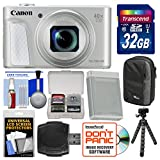 Canon PowerShot SX730 HS Wi-Fi Digital Camera (Silver) with 32GB Card + Case + Battery + Tripod + Kit