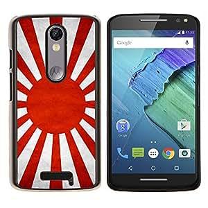 LECELL--Funda protectora / Cubierta / Piel For Motorola MOTO X3 3rd -- Nación Bandera Nacional País Japonesa --
