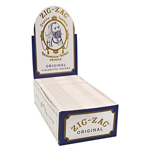(Zig Zag White Single Wide Rolling Papers (32 Leaves per Book) 24pk Display)