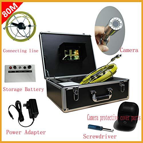 割引購入 B07QTXRK5P管の点検システム80M防水管/壁の下水道のヘビの点検カメラシステム7