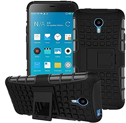 Lively Polycarbonate Kick Stand Back Cover for Vivo Y21/ Y21L (Black)