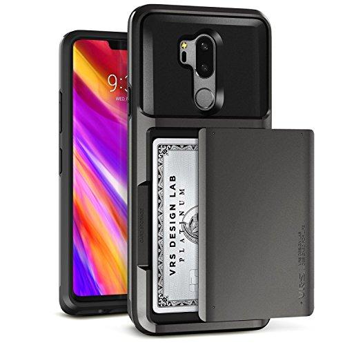 LG G7 Case, LG G7 ThinQ Case :: VRS :: Slim Wallet :: Semi-auto Sliding US PATENT :: Card Slot Holder Heavy Duty Drop Protective Cover for LG G7 ThinQ (Damda Glide - Metallic Black)