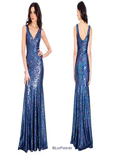 blau 38 Goddiva marineblau Damen 40 Kleid 34 36 4wgOYEgxq