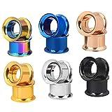 Longbeauty 6 Pair Stainless Steel Screwe Flesh Tunnel Expander Eer Plug Gauge Earlets 6 Colors 5MM