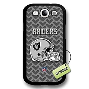 NFL Oakland Raiders Team Logo For Case Samsung Galaxy S5 Cover Black Hard Plastic - Black