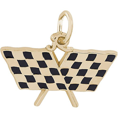 ing Flag Charm, Gold Plated Silver (Flag Charm Gold Plated)