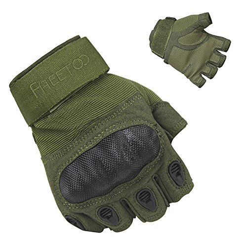 Green Motorcycle Gloves - 2