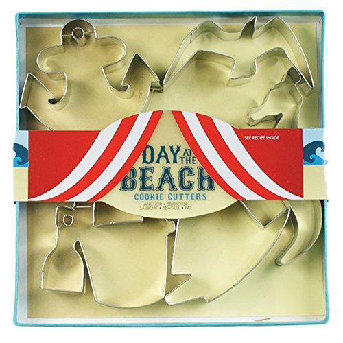 Fox Run 36016 Day at The Beach Cookie Cutter Set, Silver
