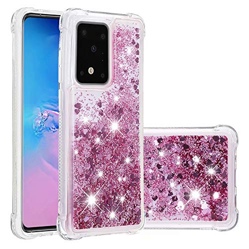 Bumina Samsung Galaxy A71 Case Liquid Case Gradient Color Glitter Sparkle Floating Bling Quicksand Silicone Flowing…
