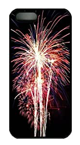 Beautiful Fireworks For Holidays Polycarbonate Hard Case Cover for iPhone 5/5S Black