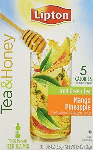 Lipton To Go Stix Iced Green Tea & Honey Mix, Mango Pineapple, 10 ct