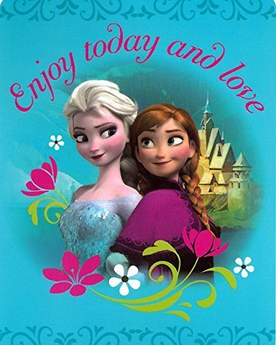 Disney Princess Frozen - Sister Love Enjoy Today and Love Elsa Anna 40x50 Mink Style Blanket in Gift Box by Disney