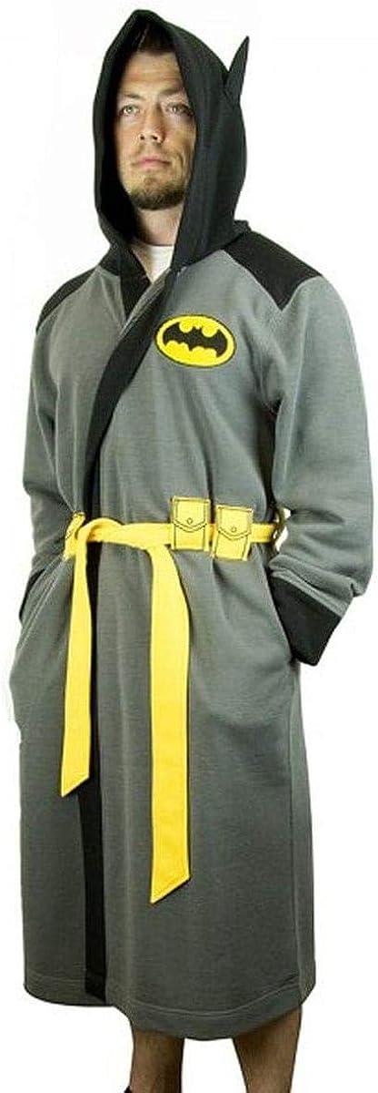 DC Comics Batman Hooded Robe with Belt | S/M: Clothing