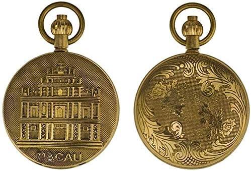 ブロンズメタル、自動機械式時計、男性と女性のレトロなアンティークのテーブルフォトフリップ、色名:D (Color : D)