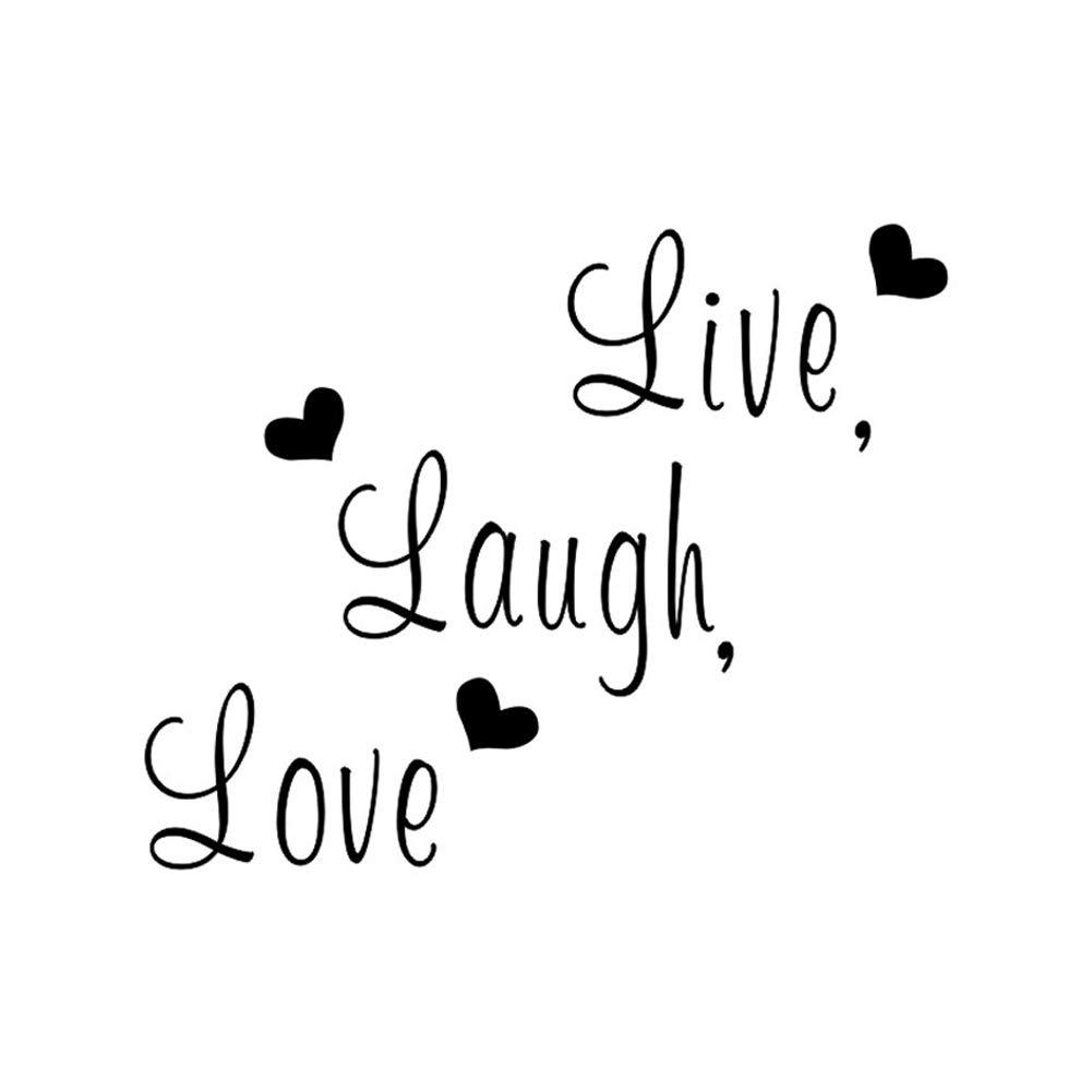 Nicedeal Live Laugh Love Wall Sticker autoadesivi smontabili della parete Murales fai da te decorazioni per la casa di arte della decorazione Lettere adesivi murali fai da te e attrezzi