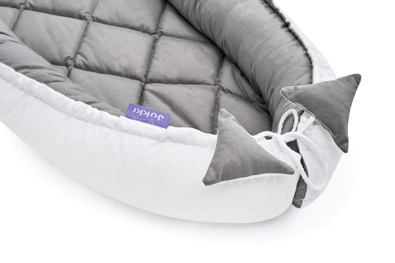 Nestchen Kuschelnest Babynestchen Kokon Babykokon 2seitig gesteppt grau