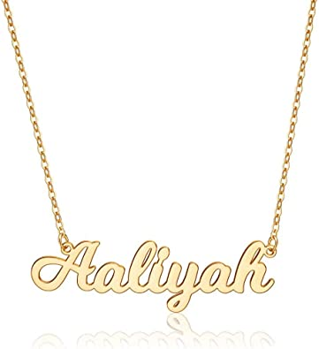 New Year 2021 Thanksgiving Custom Name Necklace Gold Name Necklace  Baby Girl Name Necklace Children Name Jewelry  Mom Gift Silver Necklace