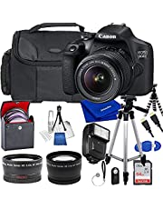 $494 » Canon EOS 2000D / Rebel T7 DSLR Camera with Canon EF-S 18-55mm F/3.5-5.6 III Zoom Lens, Bundle Including 64GB Memory Card, Bag, Tripod, Flash, Filters and More (Large Kit)