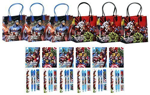 Marvel Avengers Party Favor Stationery Set - 6 Packs (42 Pcs) (Avengers Party Favours)