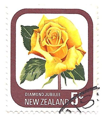 New Zealand 1975 Postage Stamp Diamond Jubilee Rose 5 Cents Scott - Rose Jubilee