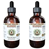 Bilberry Alcohol-FREE Liquid Extract, Bilberry (Vaccinium Myrtillus) Dried Berry Glycerite Hawaii Pharm Natural Herbal Supplement 2x4 oz