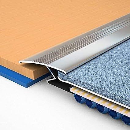 Royale® Embellecedor de aluminio, barra de puerta para unir una alfombra a suelo de