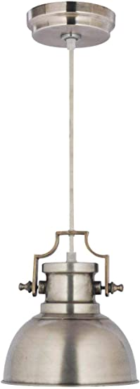 Kenroy Home Kenroy 92067ANI Restoration One Light Mini Pendant from Nautilus Collection