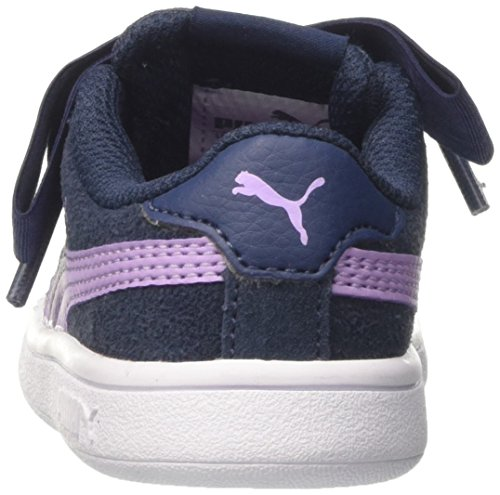 Puma Smash V2 Ribbon AC Inf, Zapatillas Para Niñas Azul (Sargasso Sea-purple Rose)