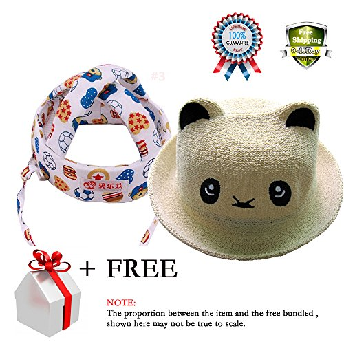 Pattern Mlb Chicago Cubs - Baby Toddler Safety Helmet Headguard Hats No Bumps Adjustable Summer Topee Hat Cute Cartoon Panda Kids Cap for Toddler Boys Girls