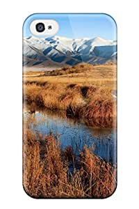 Iphone 4/4s Case Cover Marsh And Mountains Case - Eco-friendly Packaging