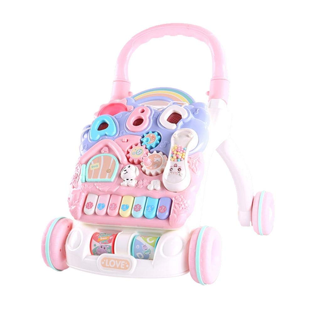 Per Newly Baby Walker Trolley Toy Baby Stroller Toys Anti-Rollover Walker Multifunctional Learning Table Toy for Infants Boys Girls