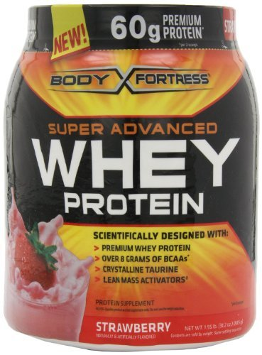 Advanced Strawberry - Body Fortress Super Advanced Whey Protein, Strawberry, 1.95 lb. (885 g) by Body Fortress