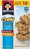 Quaker Chewy Granola Bars, 25% Less Sugar Variety Pack, Snack Bars, Low Sugar, 18 Bars