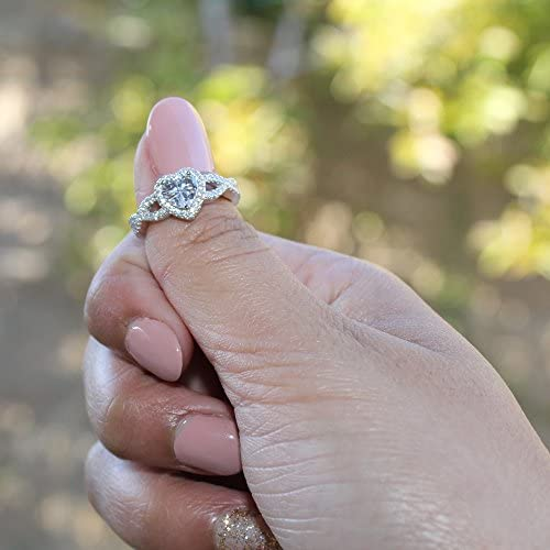 Details about  /925 Sterling Silver Vermeil Yellow Gold Over Sphalerite Zircon Promise Ring Ct 3