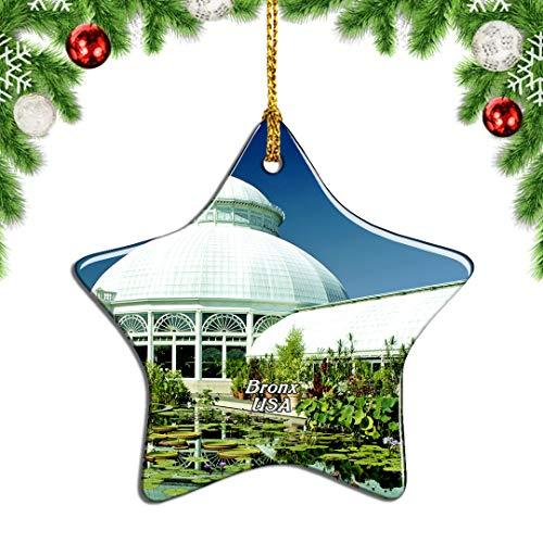 Weekino USA America New York Botanical Garden Bronx Christmas Ornament Tree Decoration Hanging Pendant City Travel Souvenir Collection Gift