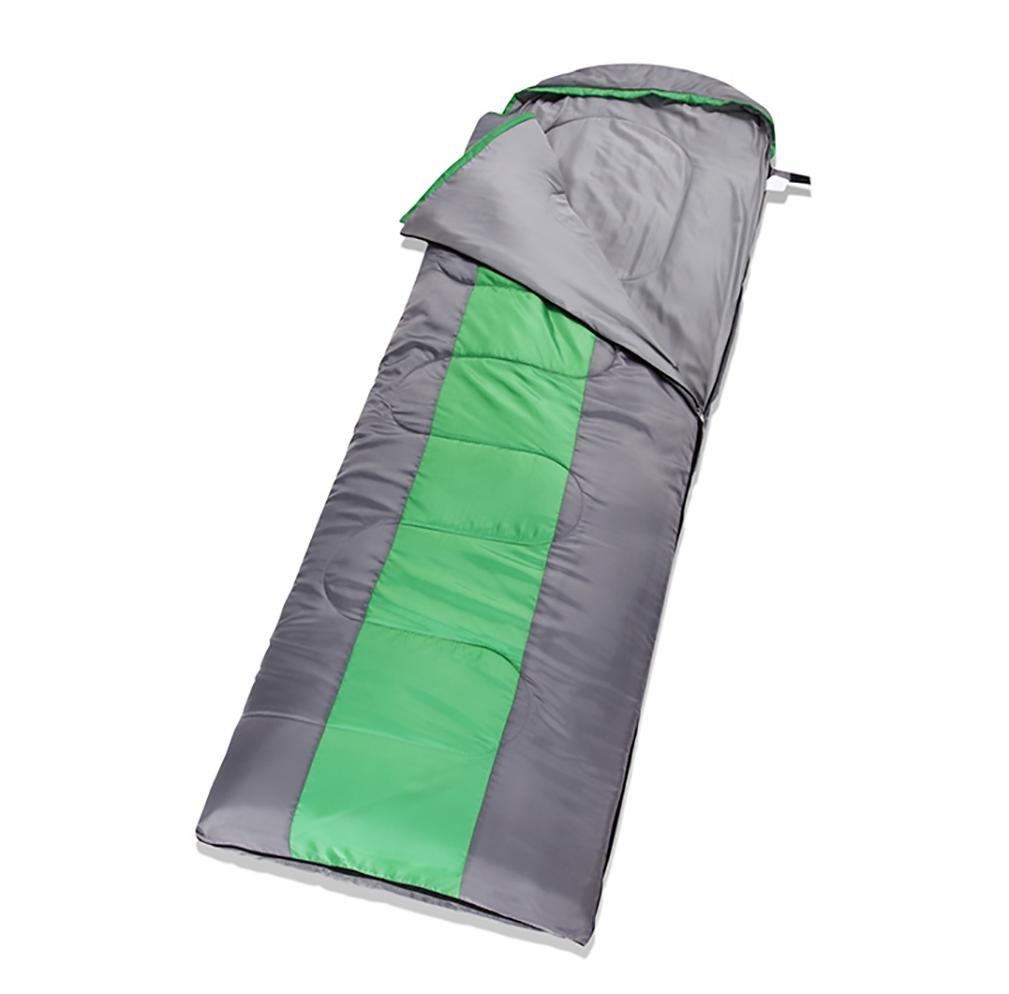 アウトドアThicker Sleepingバッグステッチできる大人用Widened Lengthenedキャンプ機器 B0762N8HSL  グリーン