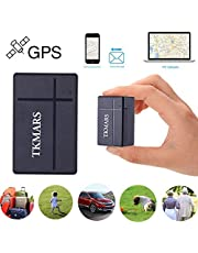 GPS Tracker - TKMARS Anti Thief Mini GPS Tracking Devices SMS/APP Real-time GPS locator for Car/Vehicles/Bags(TK903A)