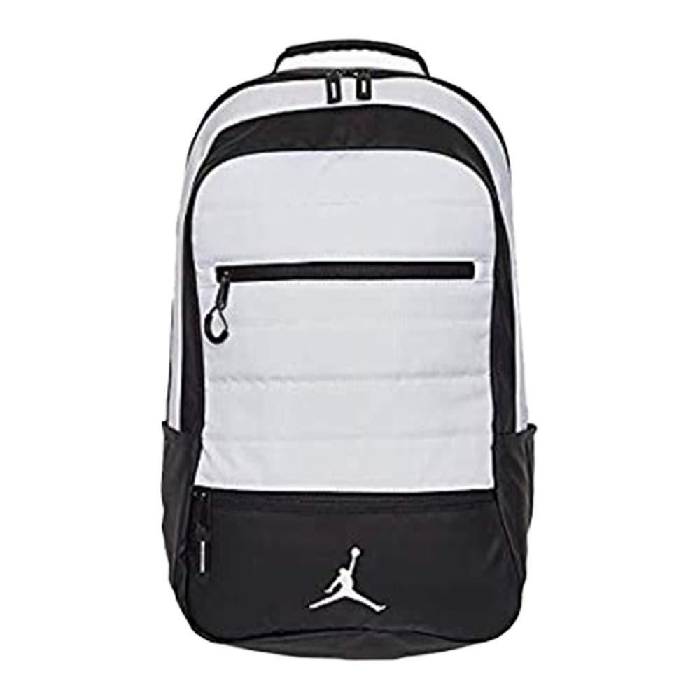 51ba5dbf9210c9 Amazon.com  Nike Jordan Jumpman Airborne White Laptop Backpack  Shopocity