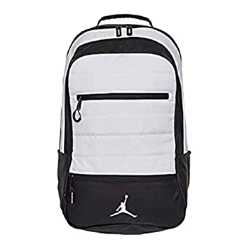 6caf7317ec8781 Amazon.com  Nike Jordan Jumpman Airborne White Laptop Backpack  Shopocity