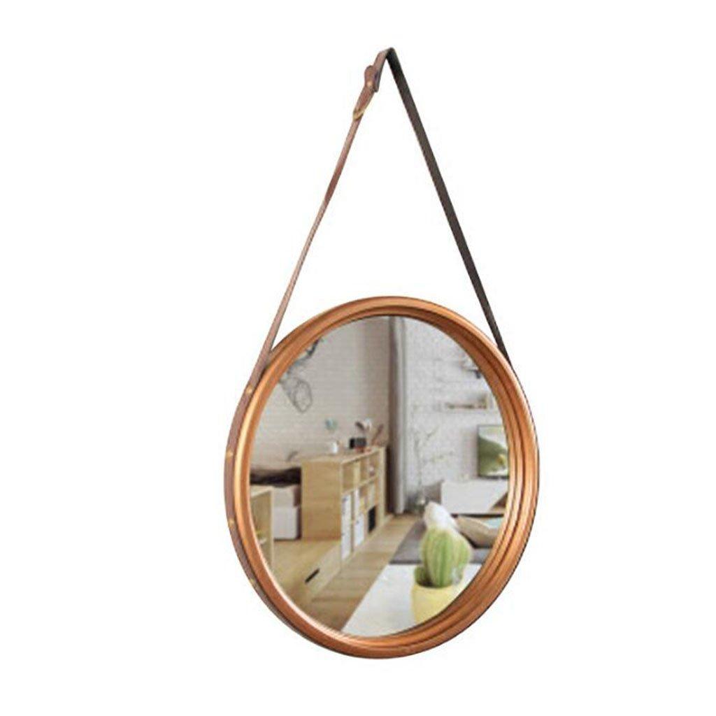 LEI ZE JUN UK- Eisen Wand Spiegel mit Seil für Badezimmer Wohnzimmer Loft Industrial Style dekorativen Spiegel Wandspiegel