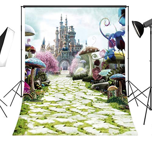 LB Dream World Wonderland Backdrop for Photography 5x7ft Kids Teen Newborn Girls Boys Birthday Party Photo Background Studio Prop Vinyl Customized JLT-6695