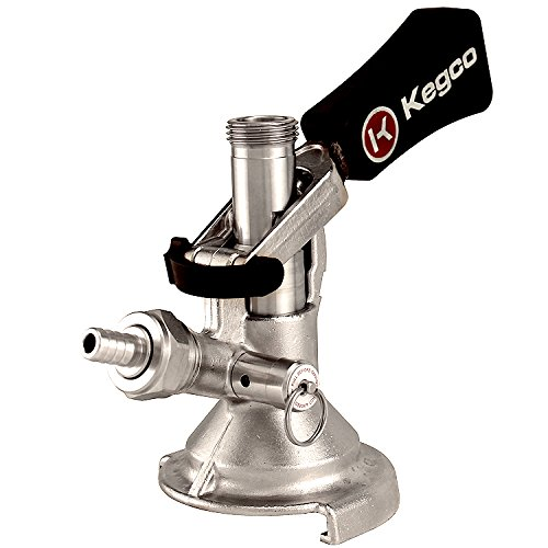 Kegco KC KT1104W-Keg Coupler German Slider A System Ergonomic Lever Handle, Stainless Steel Probe by Kegco