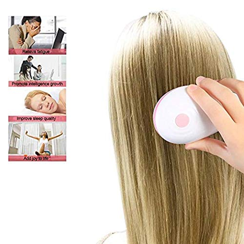 (Electric Scalp Massager Mini Hair Comb Waterpoof Vibrating Scalp Brush for Hair Care(Pink))