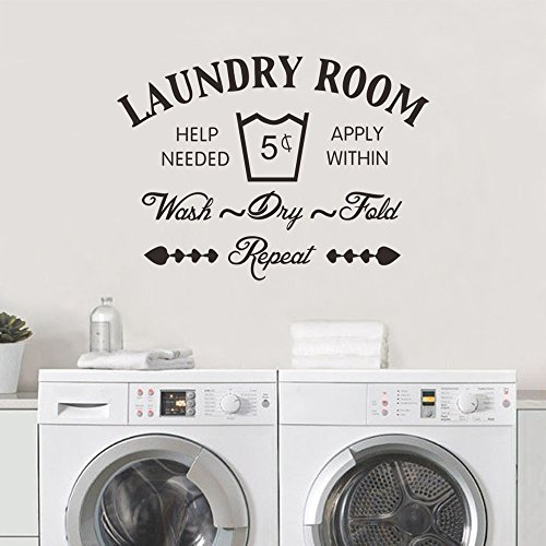 wall decals laundry room - 1