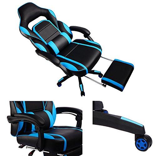 Gtplayer Reclining Memory Foam Racing Gaming Chair High