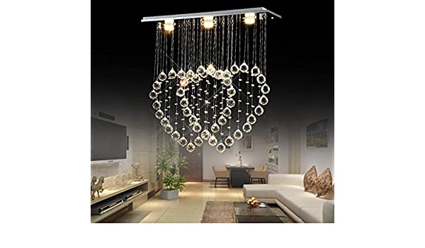 Wonderbaarlijk Heart-shaped chandelier modern minimalist restaurant double heart SS-38