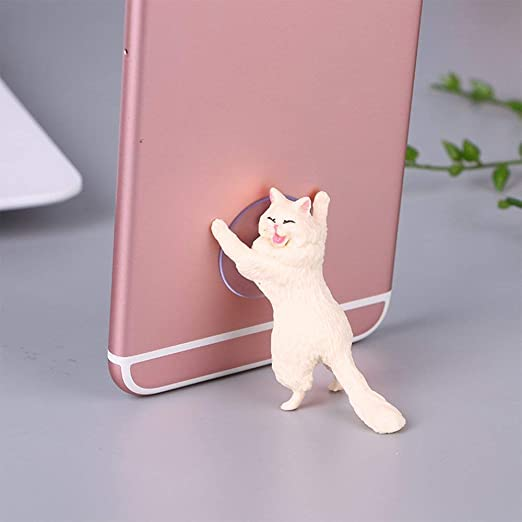 Cute Cat Support Resin Mobile Phone Holder Stand Sucker Smartphone ...