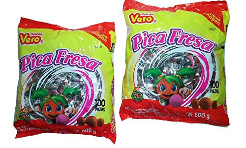 Vero Pica Fresa Chili Strawberry Flavor Gummy Mexican Candy 2 PACK